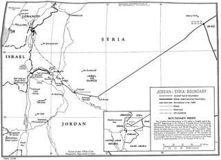 Jordan–Syria border International border