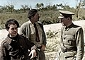 Joris Ivens, Ernest Hemingway, and Ludwig Renn during the Spanish Civil War, 1937. (40810270211).jpg