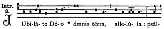 Mode (music) - The introit Jubilate Deo, from which Jubilate Sunday gets its name, is in Mode 8.