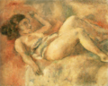 JulesPascin-1928-Sleeping Naked Girl.png