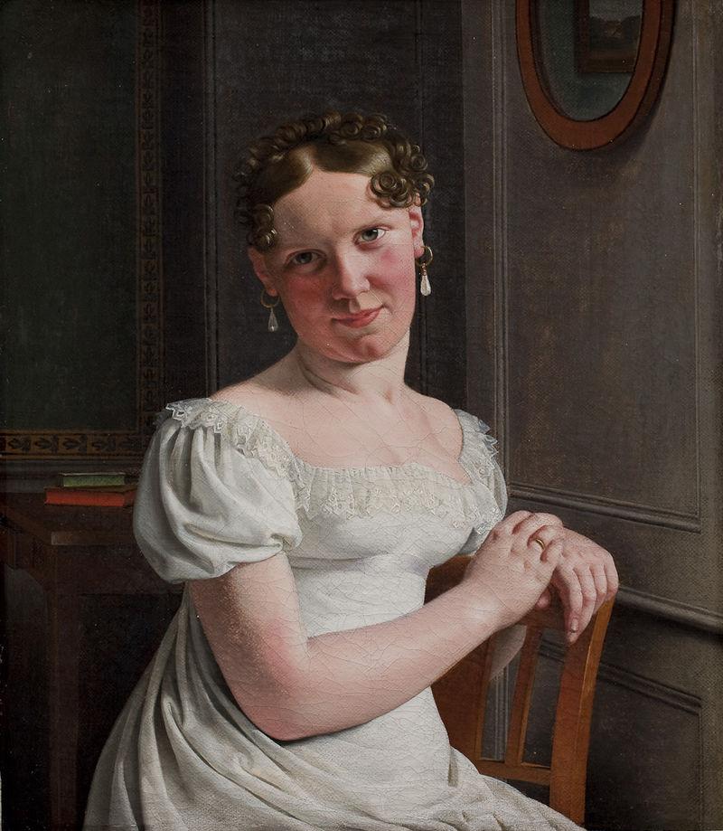 Julie Eckersberg, født Juel, kunstnerens anden hustru.jpeg