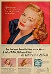 June Haver says 'Yes, I use Lustre Creme Shampoo', 1953.jpg