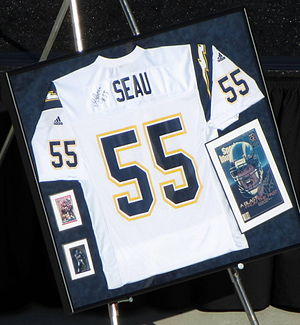 Junior Seau - Seau's jersey was retired by the San Diego Chargers, where he played 13 seasons
