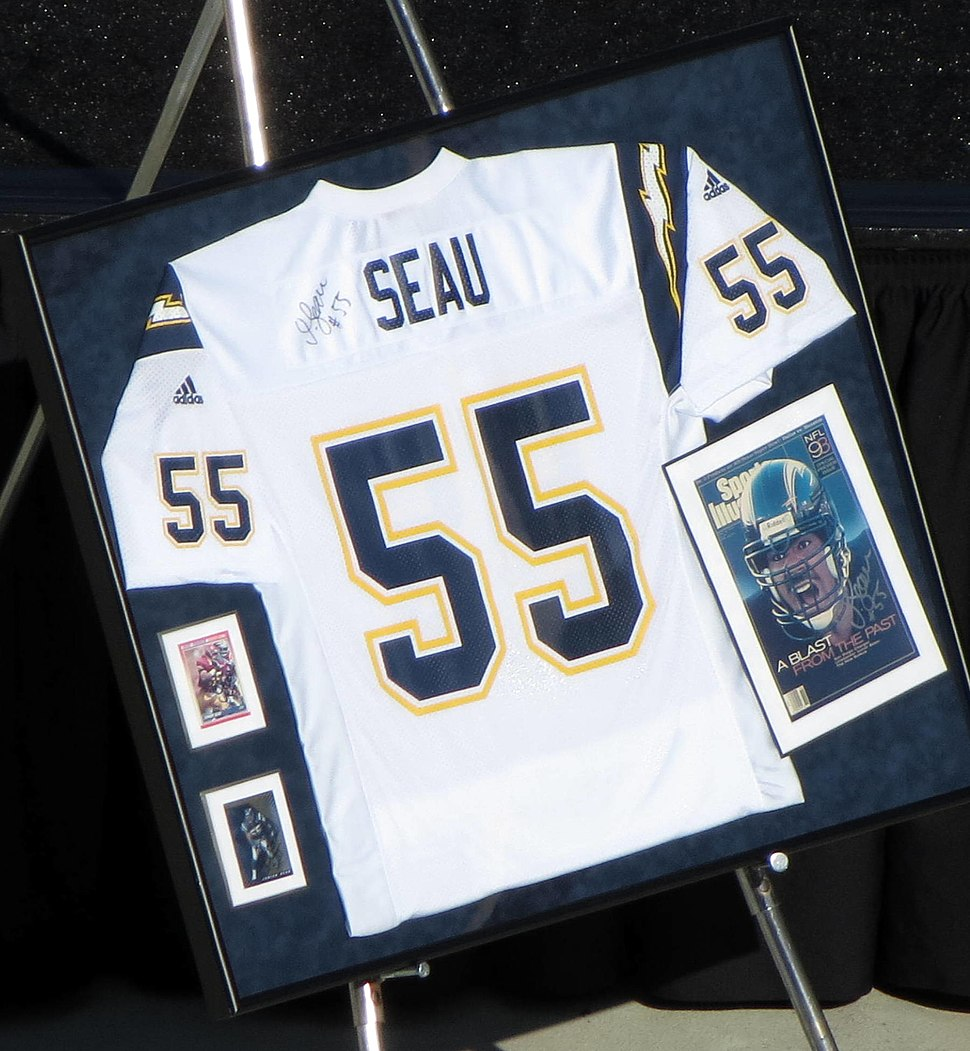 Junior Seau Chargers jersey