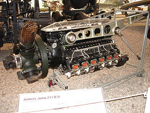 Junkers Jumo 211 - Junkers Jumo 211B/D engine at the Luftwaffenmuseum der Bundeswehr