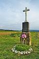 Kříž na kraji obce u cesty na Melkov, Okrouhlá, okres Blansko (02).jpg
