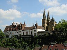 Anschlagsort der Royalisten: Schloss Neuenburg (Schweiz) (Quelle: Wikimedia)