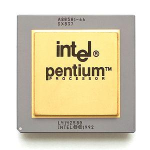 Pentium FDIV bug - 66 MHz Intel Pentium (sSpec=SX837) with the FDIV bug