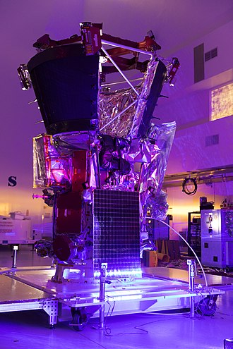 Parker Solar Probe - Light bar testing in the Astrotech processing facility