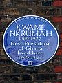 KWAME NKRUMAH 1909-1972 First President of Ghana lived here 1945-1947.jpg