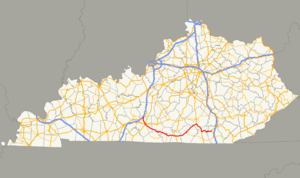 Kentucky Route 90 - Image: KY 90 map