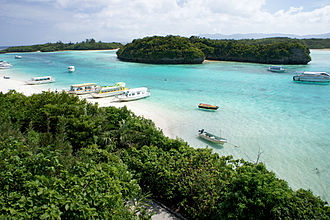 Geography of Japan - Kabira Bay on Ishigaki Island, Okinawa Prefecture in March