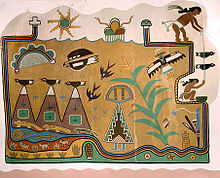 Fred Kabotie mural at Painted Desert Inn, c. 1947