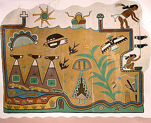 Painted Desert Inn - Mural by Hopi Artist Fred Kabotie (painted c. 1948), commissioned by Mary Jane Colter