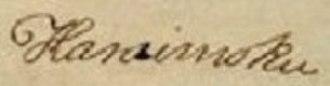 Kalanimoku - Image: Kalanimoku 1826 signature