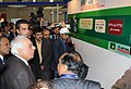 Kapil Sibal going round the exhibition at the India Telecom 2012, in New Delhi on December 13, 2012. The Minister of State for Communications & Information Technology and Shipping, Shri Milind Deora is also seen.jpg
