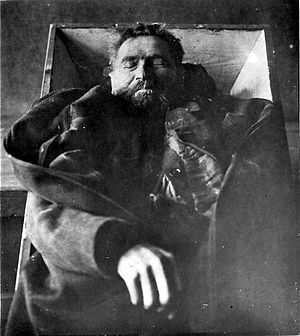 Karl Denke - Only known photograph of Karl Denke, after his suicide