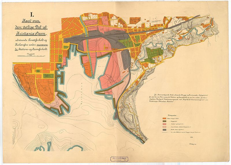 File Kart Over Den Ostlige Del Af Kristiania Havn 78 1 1901 Jpg