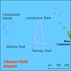 Carte des îles Chesterfield