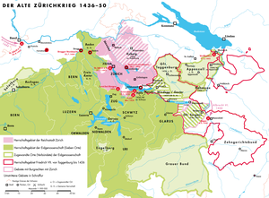 Old Zürich War - Eastern Switzerland in the mid-15th century: