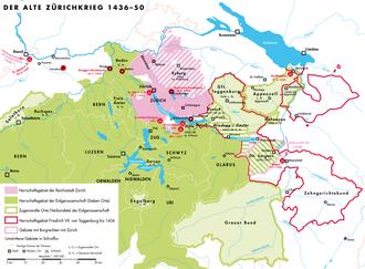 Old Zürich War - Eastern Switzerland in the mid-15th century:
