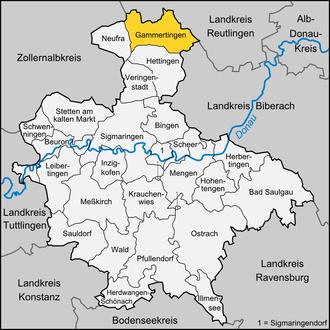 Gammertingen - Image: Karte Gammertingen