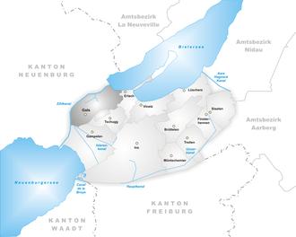Gals - Image: Karte Gemeinde Gals