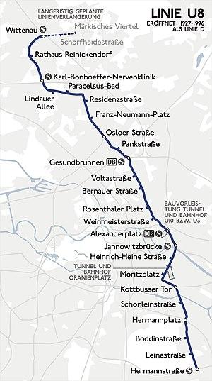 U Bahn Linie 8 Berlin Wikipedia