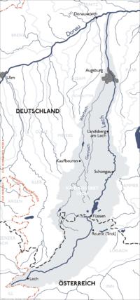 Einzugsbereich des Lechs