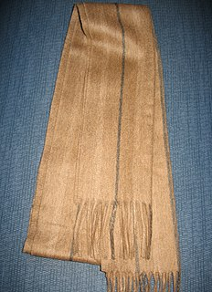 Cashmere wool fiber obtained from cashmere goats and other types of goat