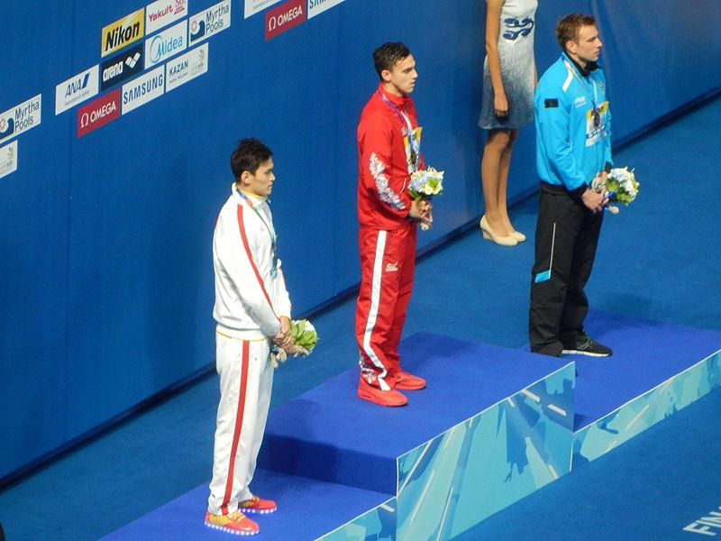 File:Kazan 2015 - Victory Ceremony 200m freestyle M.JPG