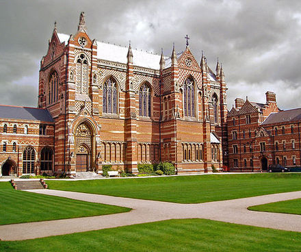 Keble College, Oxford, founded in 1870, was named after John Keble, a Tractarian, by the influence of Edward Pusey, another Tractarian Keble College, Oxford (472712547).jpg