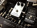 Keeley Compressor and Sonic Research Turbo Tuner ST-200 on a pedalboard.jpg