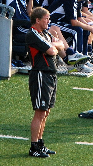 Kenny Dalglish as a menager during pre-season ...