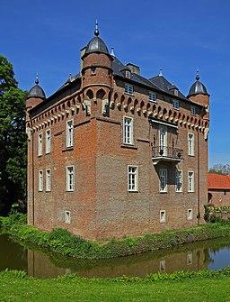 Loersfeld Castle in Kerpen. Former water castle, today a residential building.