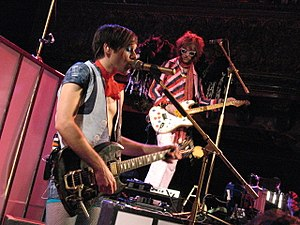 Of Montreal - Kevin Barnes and B.P. Helium on stage in San Francisco, 2007.
