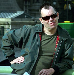 Kevin Eldon - Eldon in 2011 at the Block the Bill Protest on Westminster Bridge