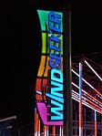 WindSeeker's sign lit up at night. Taken June 30, 2011.