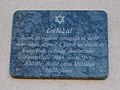 Kistérségi Gondozási Központ, Holokauszt áldozatai emléktábla, 2019 Aszód.jpg