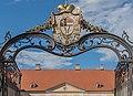 Klagenfurt Mariannengasse 2 Bischoefliche Residenz Einfahrtstor Wappen 14082016 3755.jpg