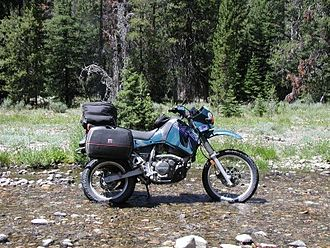 Kawasaki KLR650 - 1998 KLR650 in its environment (the luggage is not standard)