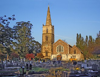 Knighton, Leicester - St. Mary Magdalen Church and churchyard cemetery, Knighton, Leicester
