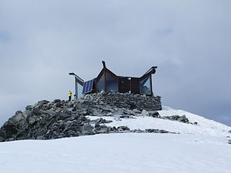 Galdhøpiggen - The cabin on top of Galdhøpiggen