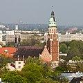 Kościół Najświętszego Serca Pana Jezusa (widok z wieży kościoła Mariackiego); A-299, A-221-M; PL-MA, Kraków, ul. Kopernika 26.jpg