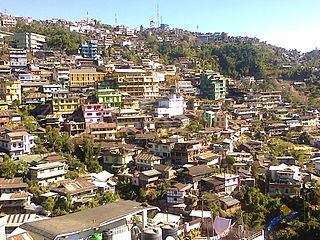 Kohima capital city of Nagaland, India