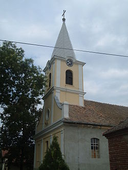 Konak village, Serbia, Catholic church.jpg