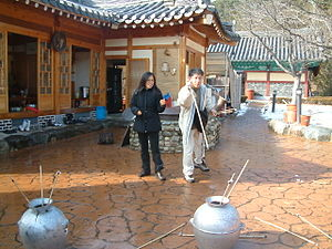 Korean New Year - Traditional game tuho being played.