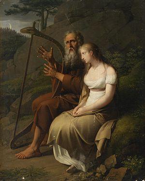Ossian - Ossian and Malvina, by Johann Peter Krafft, 1810