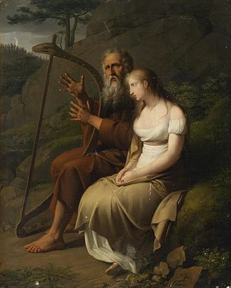 Ossian - Ossian and Malvina, by Johann Peter Krafft, 1810