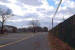 Bayport (LIRR station) - Railroad Street in Bayport, east of the former station site